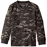 Nine Threads Big Boys' Acid Effect Long Sleeve Thermal T-Shirt, Charcoal, 14/16