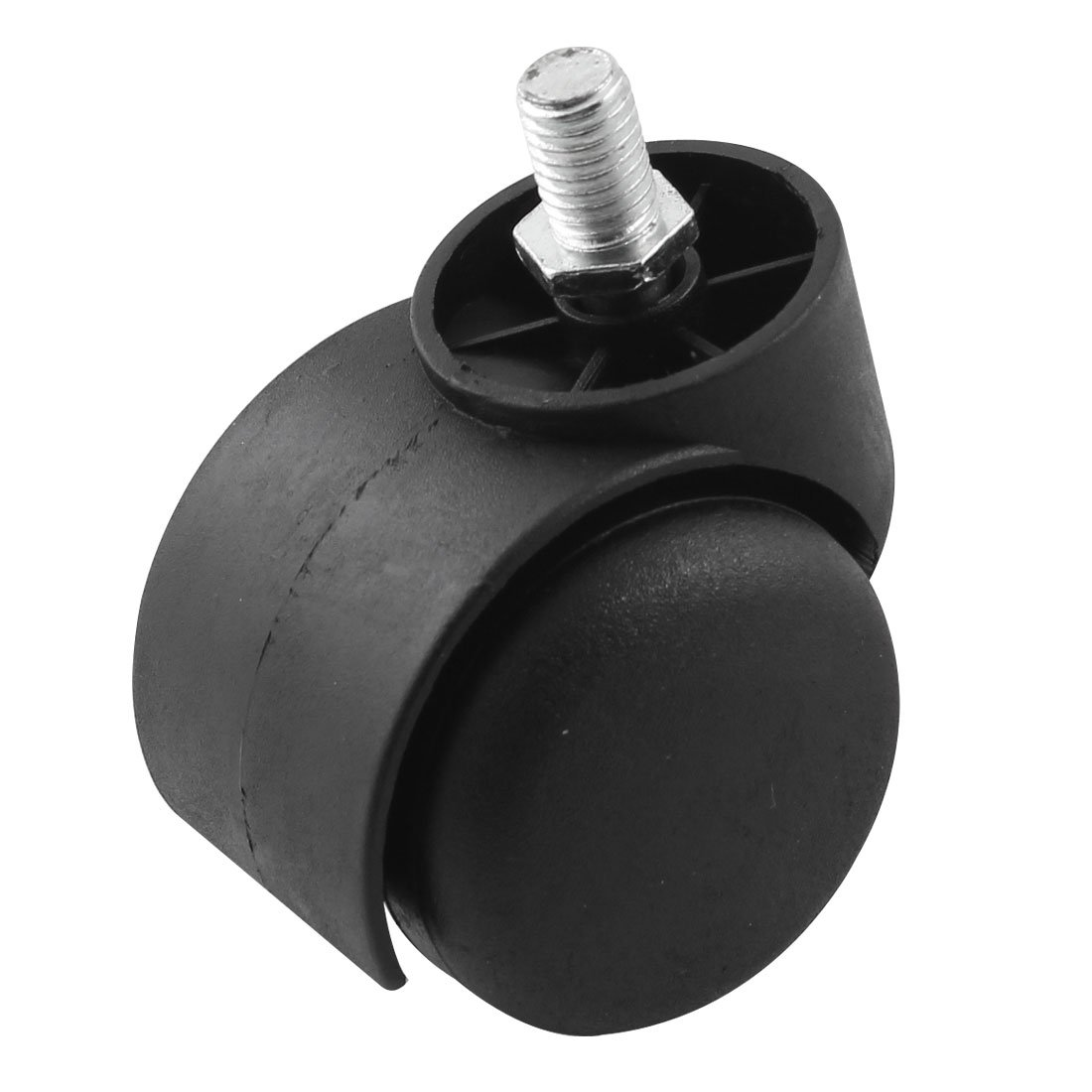 15mm Long Threaded Stem Metal 49mm Dia Chair Caster Wheel Black варочная поверхность beko himg 64223 x
