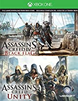 Tajeta para descarga del juego Assassin's Creed IV Black Flag & Assassin's Creed Unity  Xbox One.