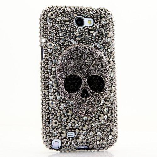 lowest price a2239 83e3d 3D Luxury Swarovski Crystal Diamond Bling Skull Design Case Cover ...