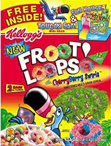... Kellogg's Froot Loops Cereal Two Bag Value Box 43.6 oz: Fruit Loops