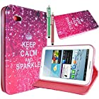 MaxMall Retro Keep Calm and Sparkle PU Leather Stand Case Cover for Samsung Galaxy Tab 2 7.0 inch Tablet P3100
