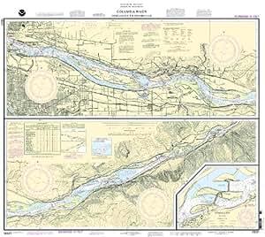 Noaa print on demand chart columbia river for Columbia river fishing map