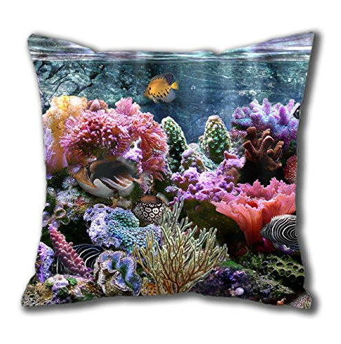 Coral Reef Widescreen Nice Thanksgiving Easter Cotton Square Pillow Case By Cases & Mousepads front-932754