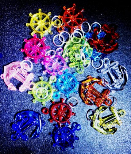 Pack of 16 Colorful Charms for Rubber Band Loom Bracelets - 1