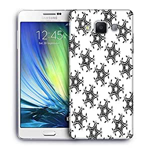 Snoogg Leafy Pattern Printed Protective Phone Back Case Cover For Samsung Galaxy A7
