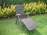 Rattan Sun Lounger Multi possition and adjustable footrest
