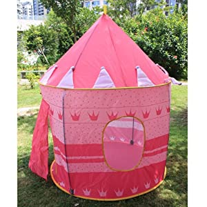 Children Kids Girl's Playhouse Princess Castle Game Play Tent Indoor / Outdoor Pink from Crazy Cart