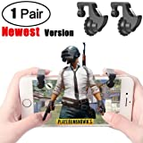 PUBG Mobile Controller,Kasien New Mobile Game Controller Trigger Sensitive Shoot and Aim Buttons L1R1 For PUBG (Color: Black, Tamaño: one size)
