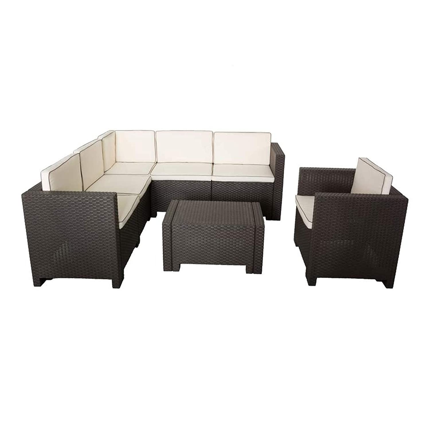 sitzgarnitur anthrazit in rattan optik lounge tisch stuhl innen au en bestellen. Black Bedroom Furniture Sets. Home Design Ideas