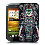 Head Case Elephant Aztec Animal Faces Hard Back Case Cover For Htc One S