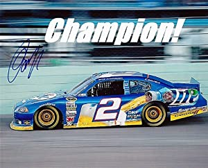 Buy AUTOGRAPHED 2012 Brad Keselowski #2 Miller Lite Racing SPRINT CUP CHAMPION 8X10 SIGNED NASCAR Glossy Photo w  COA by Trackside Autographs