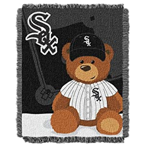 MLB Chicago White Sox Field Woven Jacquard Baby Throw Blanket, 36x46-Inch by Northwest