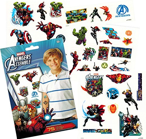 marvel-avengers-temporary-tattoos-75-iron-man-thor-hulk-captain-america-and-more