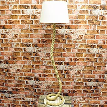 148cm nautical farmhouse style coiled rope floor lamp with. Black Bedroom Furniture Sets. Home Design Ideas