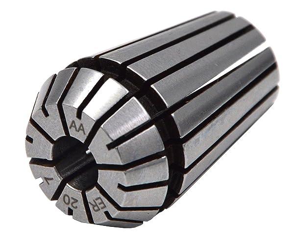 Wokesi Set 4Pcs ER20 6mm-7mm Clamping Range,Spring Collet Set For CNC Lathe Machine Milling Chuck Holder Tool,RUN OUT 0.0002 (ER20-7 6-7mm) (Tamaño: ER20-7 6-7mm)