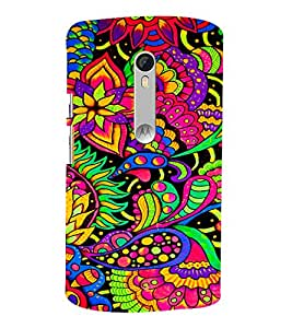 Leafs Flowers Floral 3D Hard Polycarbonate Designer Back Case Cover for Moto G Turbo Edition