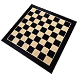 Klamath Chess Board with Inlaid Maple and Beech Wood - Board Only – 19 Inch (Color: Brown, Tamaño: extra large)