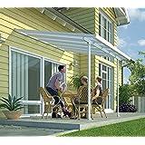 Hochwertige Aluminium Terrassenüberdachung, Terrassendach 400x1276cm (TxB) - weiß inkl. Befestigung
