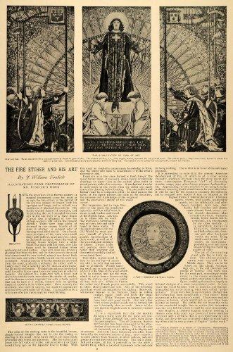 1896-article-fire-etcher-art-william-fosdick-joan-arc-religion-angels-gothic-original-print-article