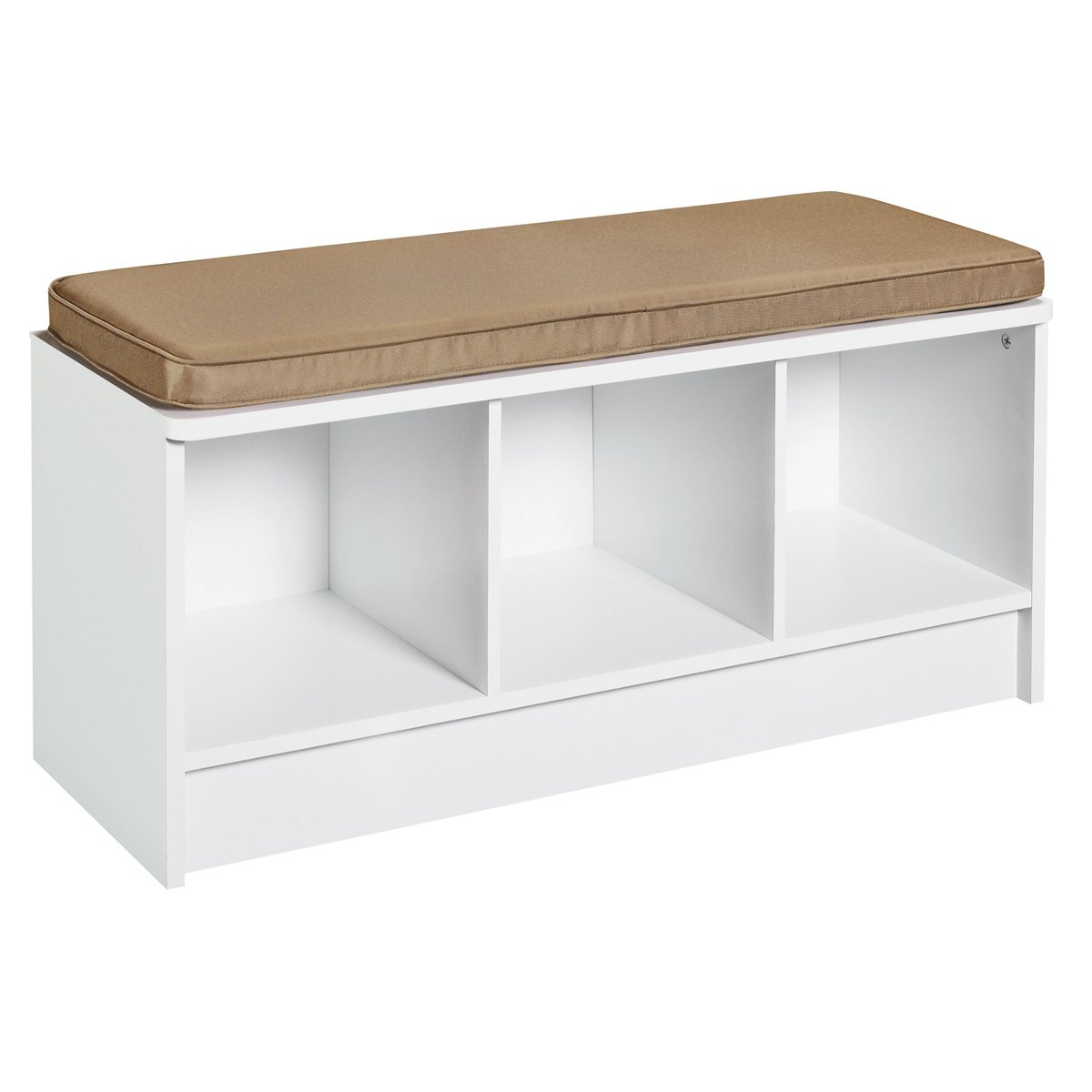Entryway 3 cube storage bench white organization furniture hallway window seat ebay Bench with shelf