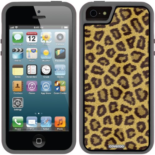 Special Sale Cheeky Cheetah design on a Black iPhone 5s / 5 Guardian / Ruggedized Case by Coveroo