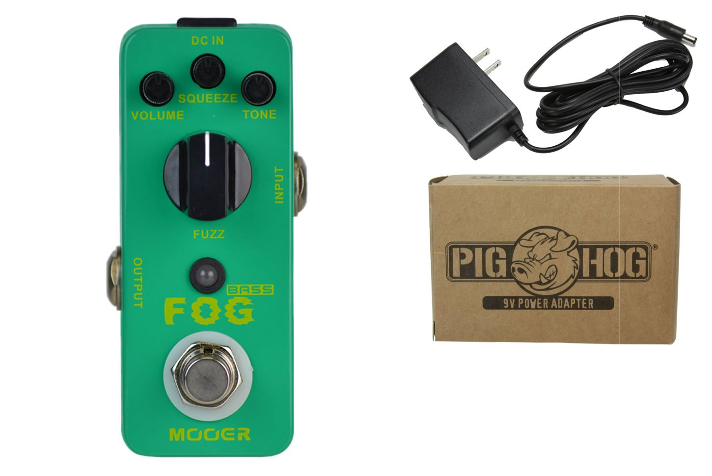 Mooer Fog Bass Fuzz Power Bundle w/ 1 free Items: Item: Pig Hog 9v Power Adapter nika