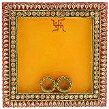My Innovation Square Puja Thali (23 Cm X 23 Cm X 3 Cm)