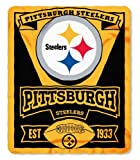 NFL Pittsburgh Steelers Marque Printed Fleece Throw, 50-inch by 60-inch