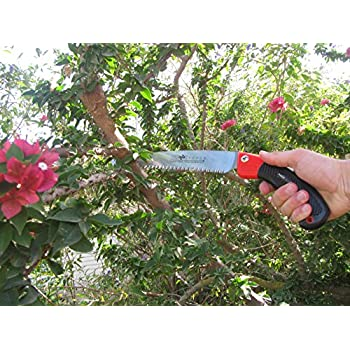 TABOR TOOLS Pruning Saw with Sheath For Trimming Tree Branches & Clearing Forest Trails, 10