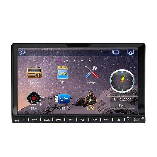 "Rungrace Audioradio Multimedia avec Ecran LCD 7"" 2 Din avec Bluetooth, Navigation-Ready GPS, RDS (RL-202WGNR02"