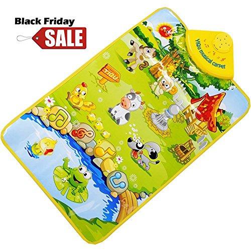 ColorMixs®La fattoria degli animali moquette musicale Mat-Music Touch Play Canto Palestra Carpet Mat giocattolo per il regalo bambino