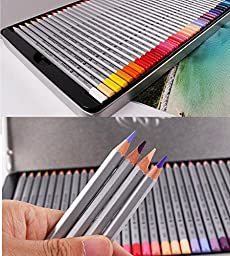 BTYMS Macro 72 Color Pencils Set with Metal Box, Professional Soft Core Art Fine Colored Pencils, Drawing Pencil for Artist Sketch, Adult Coloring Book, Set of 72 Assorted Colors