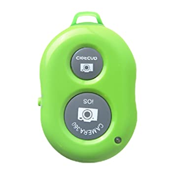 Telecamera mini Bluetooth scatto remoto controllo cellulare ricaricabile Contolled Remote per Android/IOS verde