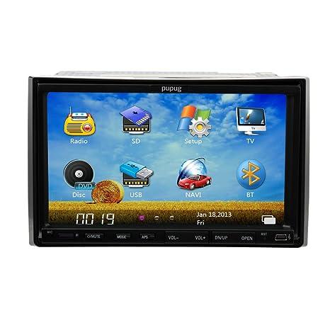 En Dash stšŠršŠo voiture Navigation GPS Autoradio Double 2 Din 7 pouces Lecteur DVD de voiture VšŠhicule Auto Radio Lecteur CD iPod Bluetooth TV Mic MP3 + Carte SD