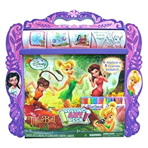 tinkerbell toys. rolling art desk