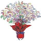 Beistle 50809-MC Birthday Gleam 'N Burst Centerpiece, 15-Inch