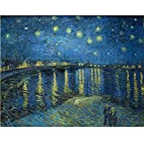 Tallenge Old Masters Collection - Starry Night Over The Rhone By Vincent Van Gogh - Premium Quality Rolled Canvas...