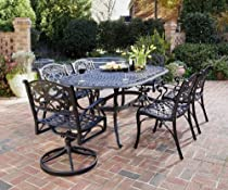Big Sale Home Styles 5554-3358 Biscayne 7-Piece Outdoor Dining Set, Black Finish