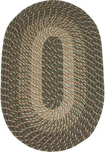 Plymouth 6' ROUND Braided Rug in Ponderosa Pine (Medium/Dark Olive Tones)