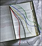 Catholic Christian Hymnal Ribbon Bookmark Yellow Blue Red Black Green