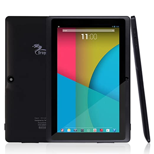 Dragon Touch® Y88X 7'' Quad Core Google Android 4.4 KitKat Tablet PC, Dual Camera, HD 1024x600 Multi-touch Screen, 8GB Nand Flash, Google Play & Zoodles Pre-load, 3D Game Supported (Advanced version of Y88)