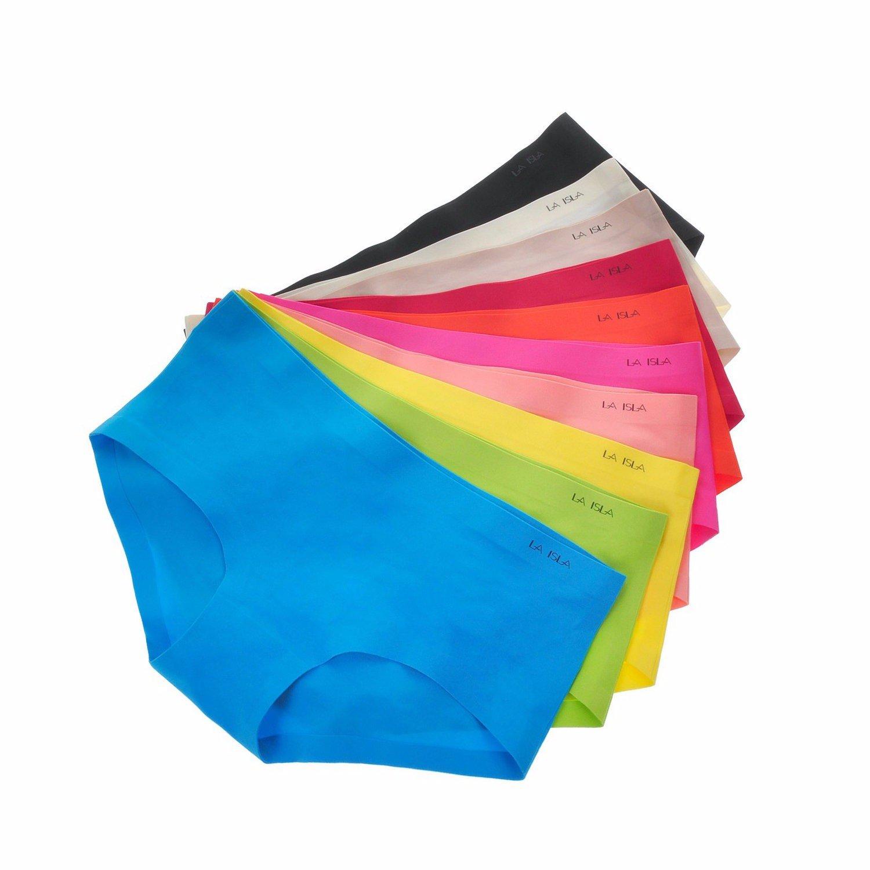 La Isla Damen 6er Pack Slip Nahtlos Unsichtbare Low Cut Hüftslip Pant
