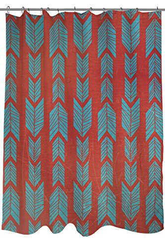Thumbprintz Shower Curtain Featherwood Turquoise