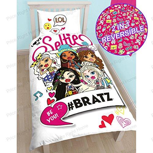 Bratz Hashtag Single/US Twin Duvet Cover and Pillowcase Set