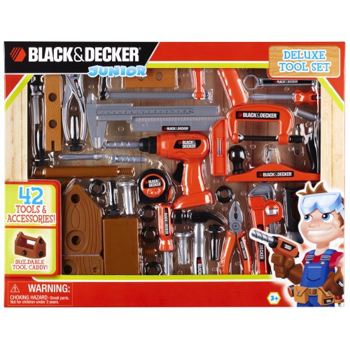 Black and Decker Deluxe Tool Set with Toolbox (Kid Tool Set With Toolbox compare prices)