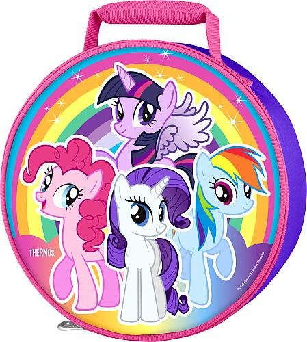 Thermos My Little Pony Girl's Circle Novelty Lunch Kit - Purple with Pink Trim