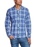 Hilfiger Denim Men's Sobert Check Button Front Long Sleeve Casual Shirt
