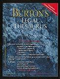 Burton's Legal Thesaurus (0028653378) by Burton, William C.