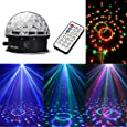 WEKSI Disco DJ Lichteffekt Discokugel LED Licht RGB Lasereffekt Projektor Kristall Magic Ball Effect Licht Mit Fernbedienung für Weihnachtsparty Disco Party Klub